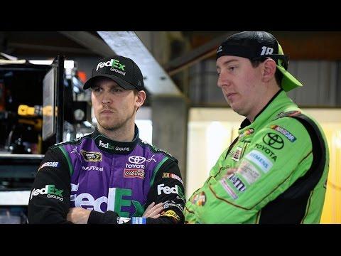 Kyle Busch and Denny Hamlin react to new Camry race car