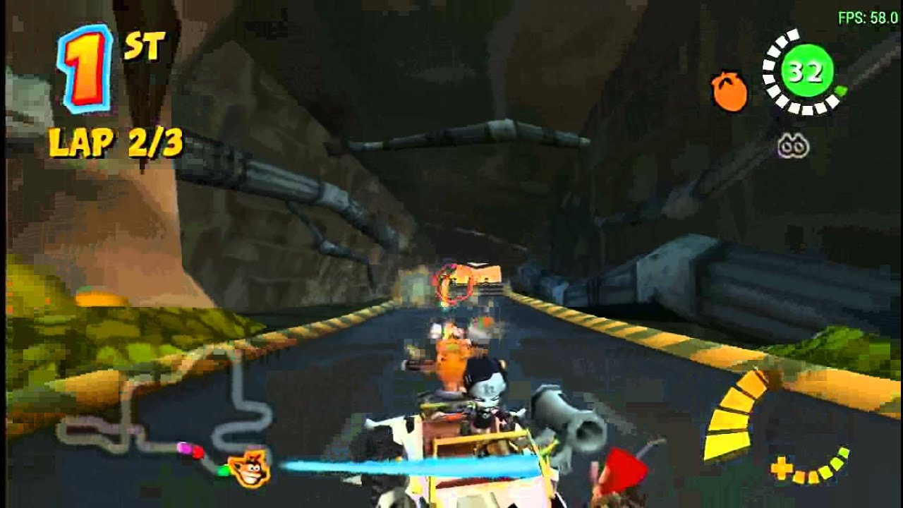 PPSSPP - Crash Tag Team Racing Gameplay - YouTube