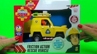 Video Feuerwehrmann Fireman Sam Tom Thomas Mountain Rescue 4x4 Jeep Sounds Lights Toy Review download MP3, 3GP, MP4, WEBM, AVI, FLV September 2017