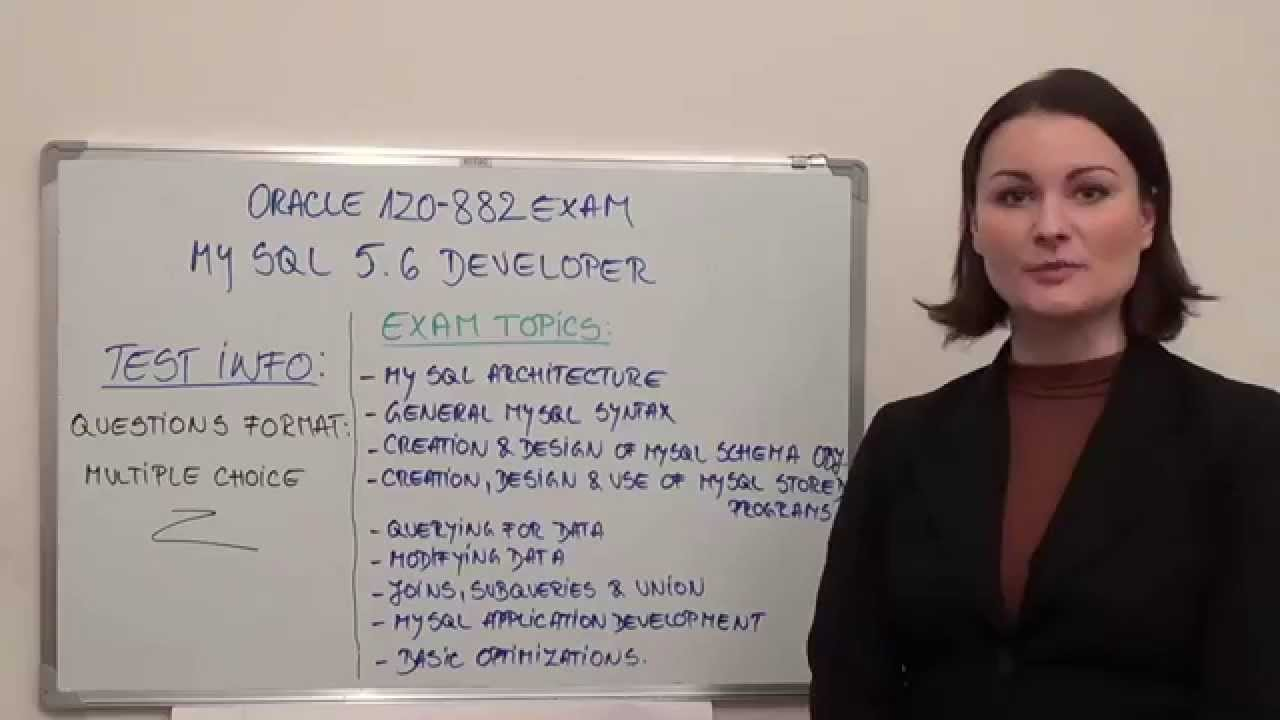 1z0 882 mysql test 56 exam developer questions youtube 1z0 882 mysql test 56 exam developer questions pass oracle easily xflitez Image collections