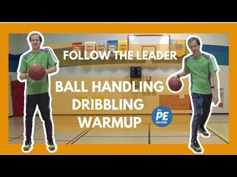 Basketball   Ball Handling Dribbling Warmup Follow The Leader