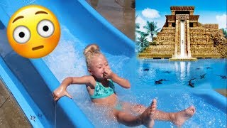 SURPRISING OUR 4 YEAR OLD WITH TRIP TO THE WORLD'S BIGGEST WATERPARK!!! thumbnail