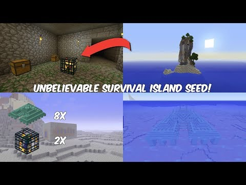 Minecraft Console - Unbelievable Survival Island Seed!  (PS4, Xbox One, PS3, Xbox 360, Wii U)