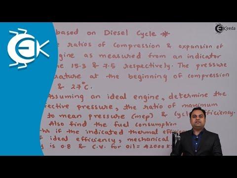 Problem No. 4 Based on Diesel Cycle in Power Gas Cycle    Ekeeda.com