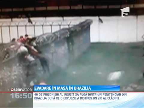 Evadare ca-n filme dintr-o închisoare din Brazilia