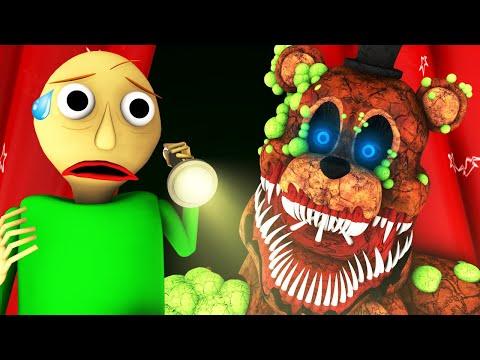 Балди Vs 5 Ночей у Фредди: Ночь 1 (Five Nights At Freddy's | Baldi FNAF ФНАФ Хоррор 3D Анимация)