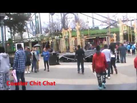 Gotham City Walk Around/ New Rides Construction Update March 2015 Six Flags Over Georgia