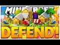 THE BEST CASTLE DEFENSE *TOWER DEFENSE* - MINECRAFT ISLAND DEFENSE - MODDED MINECRAFT MINIGAME