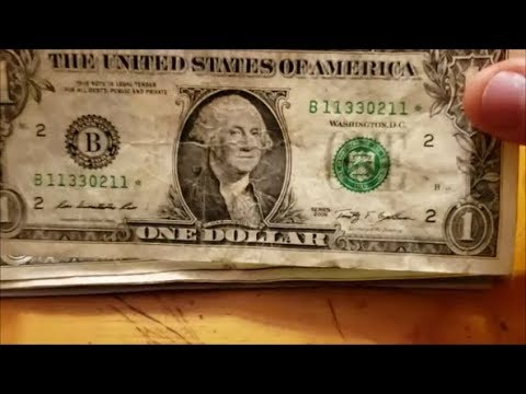 One Beat Up $1 Dollar Star Note Searching Pocket Change For Profit