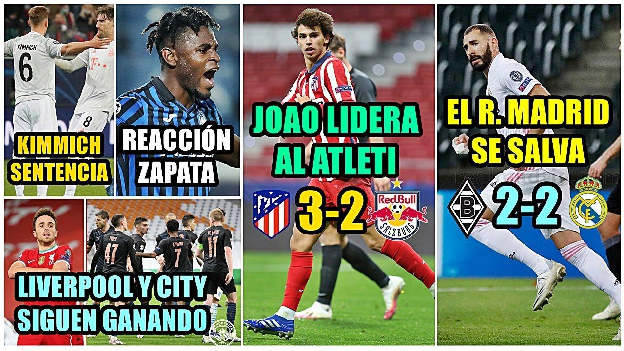 REAL MADRID SE SALVA (2-2)   JOAO FÉLIX GUÍA AL ATLETI (3-2)   LIVERPOOL, CITY, BAYERN..   CHAMPIONS