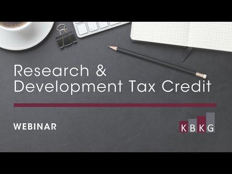 Research & Development Tax Credits Webinar