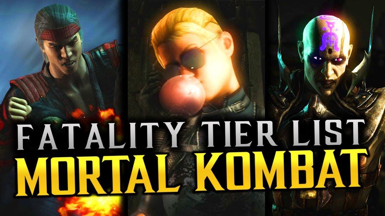 Mkx Tier List 2020.All Mortal Kombat X Fatalities Ranked In Order Super Tier List