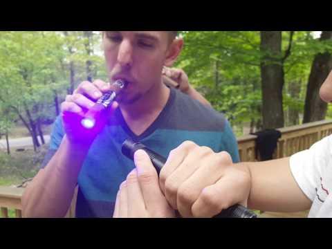 Cigar lighting with military grade lazor