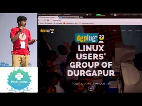 Image from Lightning Talk - PyDelhi & Dgplug - PyCon India 2015
