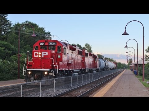 Railfanning Quebec - CN and CP Action Across Montreal Island