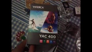 Yashica YAC 400 Action camera unboxing