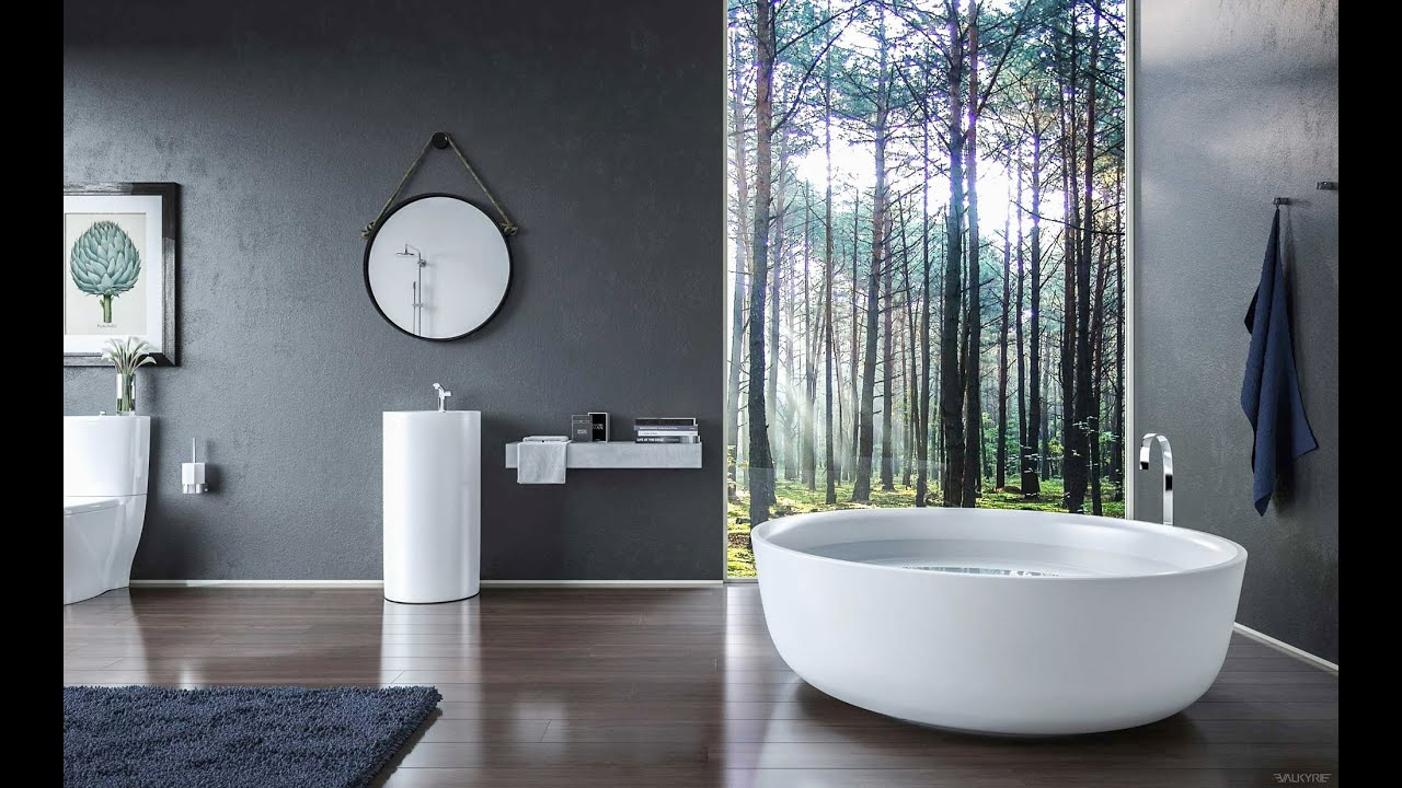 Interior design luxury bathroom designs for modern home - Accessoires salle de bain design noir ...