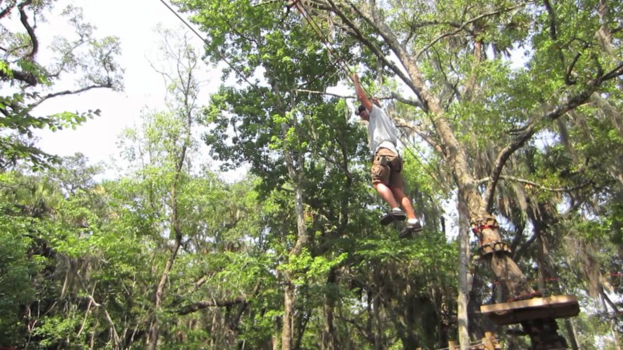 Ziplining at Zoomair Aerial Adventures at the Central ...