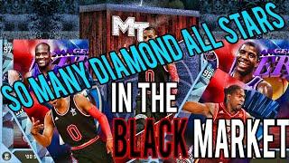 DIAMOND ALL STARS IN THE BLACK MARKET! INSANE NBA 2K16 PACK OPENING!