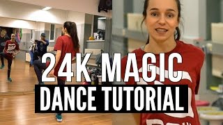 Hip Hop DANCE TUTORIAL ★ 24K Magic - Bruno Mars | Choreography TanzAlex (deutsch)