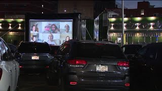 Astoria diner transforms parking lot into drive-in movie theater