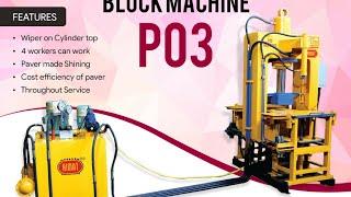 Model P03 Paver Block Machine - Himat Machine Tools