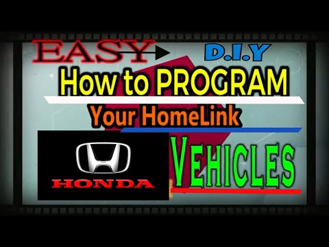 SYNC Honda Garage Door Opener HomeLink | Easiest Steps