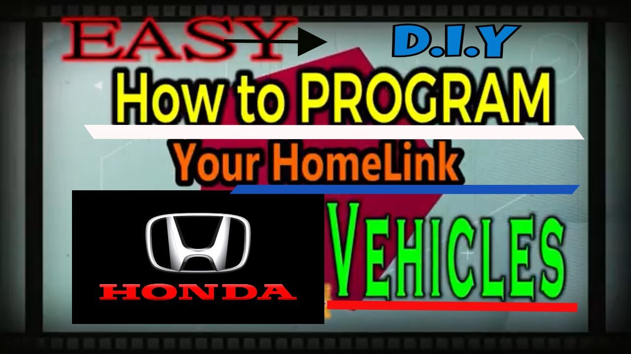Sync Honda Garage Door Opener Homelink Easiest Steps