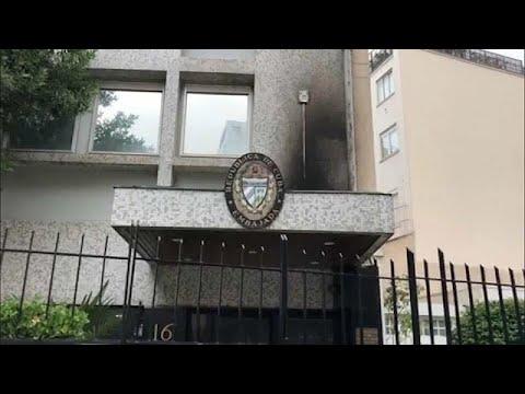 كوبا تقول إن سفارتها في فرنسا استُهدفت بقنابل حارقة  - نشر قبل 4 ساعة