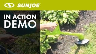 TRJ607E - Sun Joe 10-Inch 2.5-Amp Electric String Trimmer - Live Demo