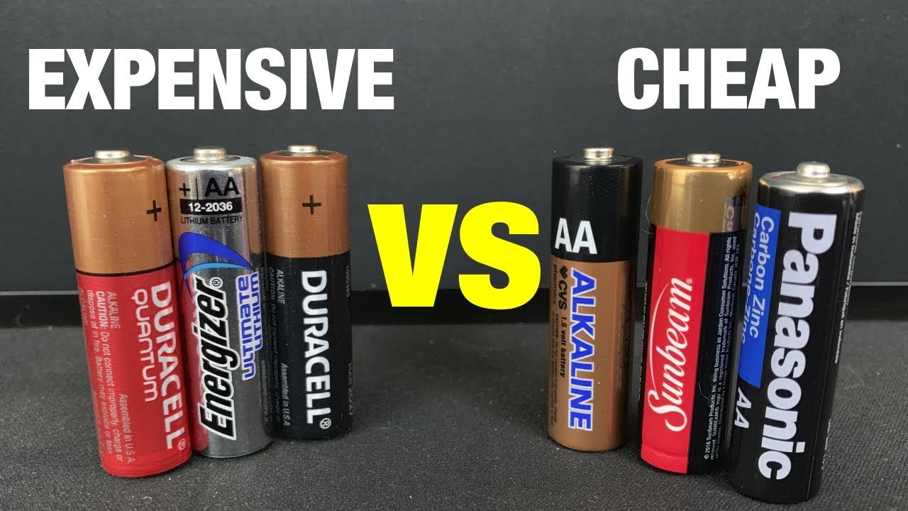 Expensive Batteries Vs Cheap Batteries Youtube