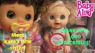 BABY ALIVE REAL SURPRISES DOLL!  THANK YOU 3,000 SUBSCRIBERS!