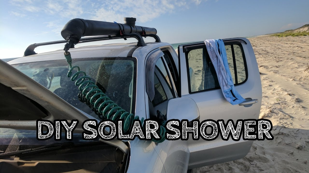 Diy Solar Shower Build Youtube