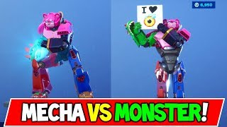 "*NEW* MECHA TEAM LEADER SKIN ""MECHA VS MONSTER"" Discussion + Fortnite X YouTube!"