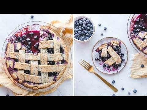 Vegan Blueberry Pie // Easy, GF, & Refined Sugar Free!