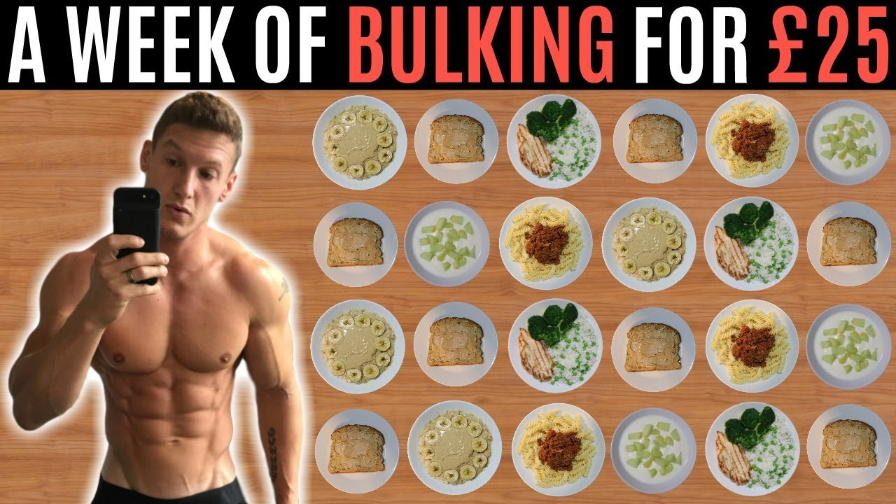 A WEEK OF BULKING FOR £25 | Meal Prep on a Budget