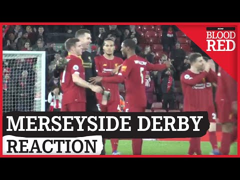 Klopp Celebrates With Players At Full Time | Liverpool 5-2 Everton