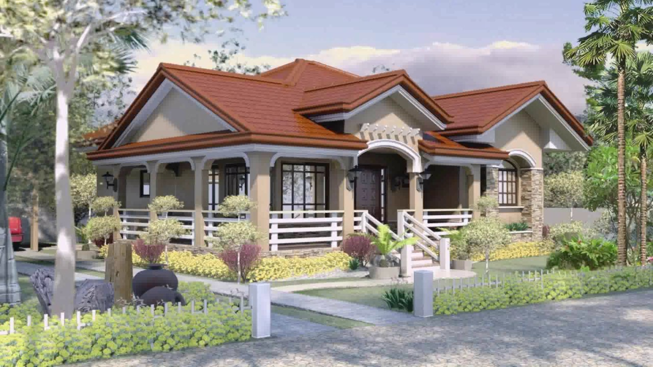 bungalow house design with floor plan in the philippines - youtube