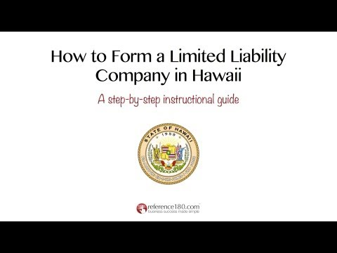 How to Form an LLC in Hawaii