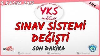YKS değişti YKS ve TYT sınav sistemi SON değişiklikler 9 KASIM 2017