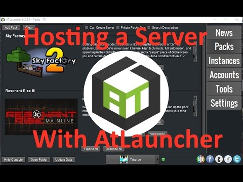How To Create A Server On AtLauncher YouTube - Minecraft server erstellen kostenlos 24and7