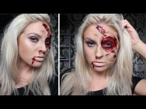 ♡ Burnt & Bloody SFX Makeup ♡ Halloween Tutorial - Liquid Latex ...