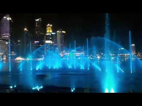 Marina Bay Wonder Full Light and Singapore Water Show