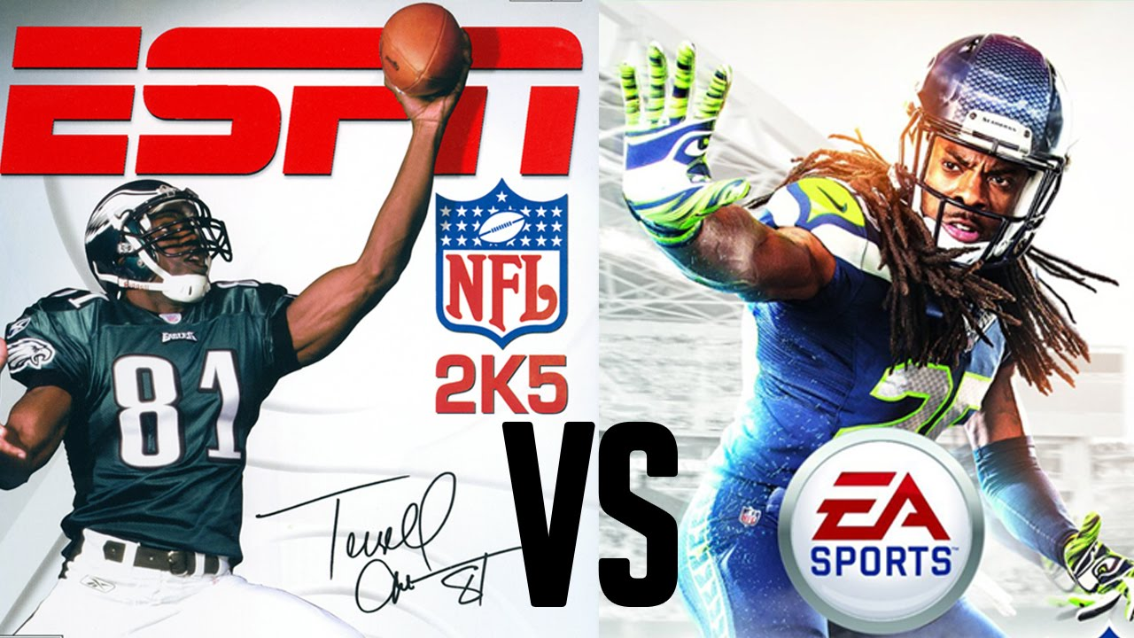 Madden 15 vs ESPN NFL 2k5 Breakdown Comparison  YouTube