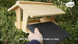 The Wildlife World Rbt Refractory Bird Table Product In Use Video