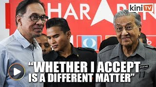 No clear answer from Dr Mahathir on whether Anwar will be made DPM