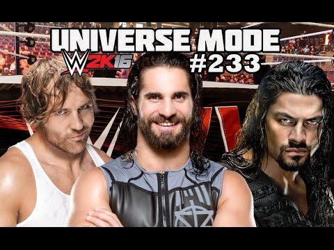 WWE 2K16 UNIVERSE MODE #233  THE SHIELD...