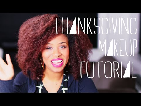 A Thanksgiving makeup tutorial that will make mom and dad happy