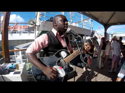 Fresh Prince of Belair on acoustic guitar @ party (Guitaro 5000)
