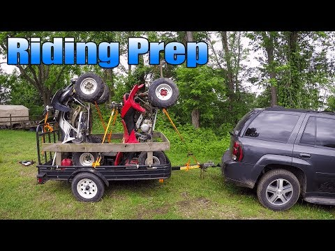 How to Load 2 Quads on a 4x8 Trailer